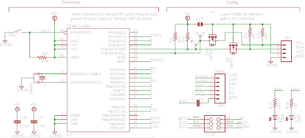 Protractor Micro-Controller and Communication Circuits