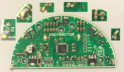 Protractor PCBA Reflow Oven Assembly Tombstone