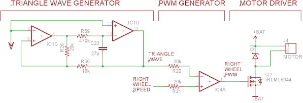 Analog Line Follower Motor Driver