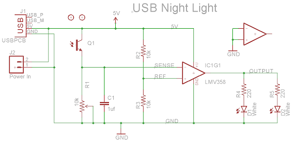 USB Night Light Schematic